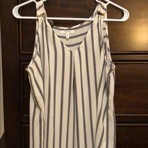 Maurice's striped sleeveless blouse